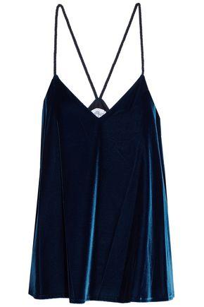 DEREK LAM 10 CROSBY Braided velvet camisole