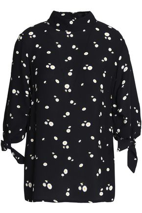 PAPER London Floral-print crepe de chine blouse