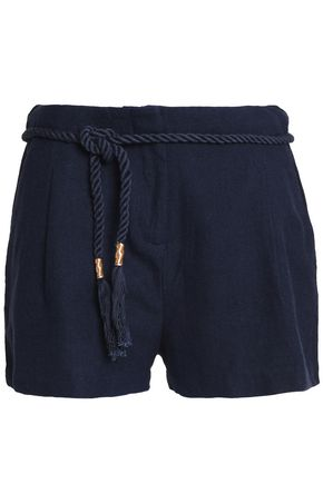 ANTIK BATIK Belted cotton-canvas shorts