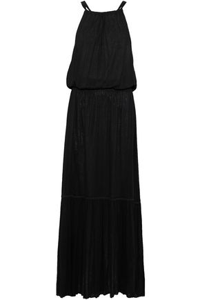 THEORY Smocked stretch-jersey  maxi dress