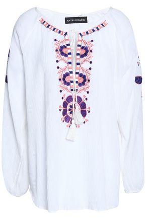 ANTIK BATIK Tasseled embroidered top