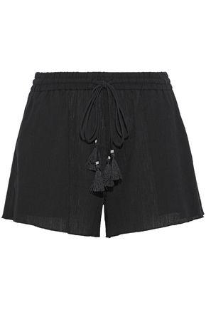 THEORY Crinkled cotton-gauze shorts