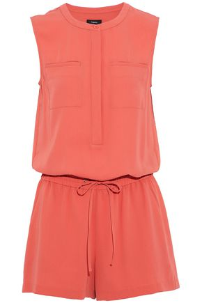 THEORY Gathered twill playsuit