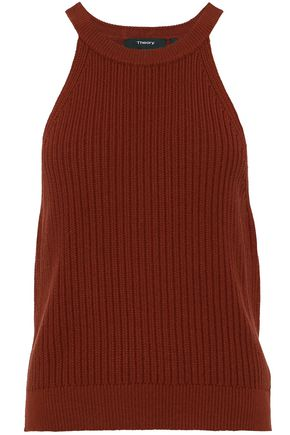 THEORY Waxson ribbed-knit top