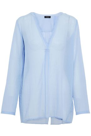 THEORY Ofeliah cotton-gauze tunic