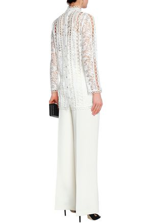 ZIMMERMANN Cotton-blend lace top