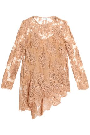 ZIMMERMANN Asymmetric cotton-blend lace blouse