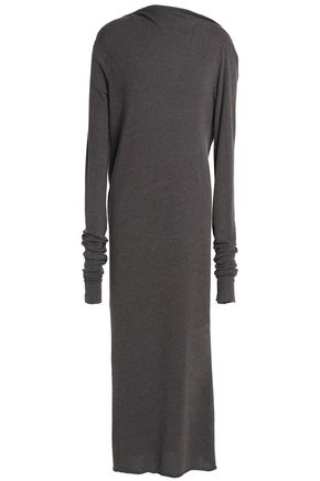 RICK OWENS LILIES Draped jersey midi dress