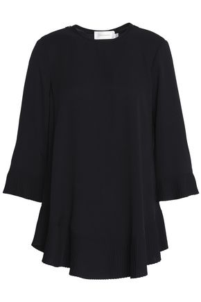 ZIMMERMANN Pleated crepe de chine blouse