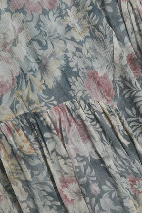 ZIMMERMANN Cavalier asymmetric floral-print silk-georgette dress