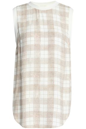 ZIMMERMANN Checked crepe blouse
