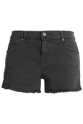 RTA Frayed denim shorts