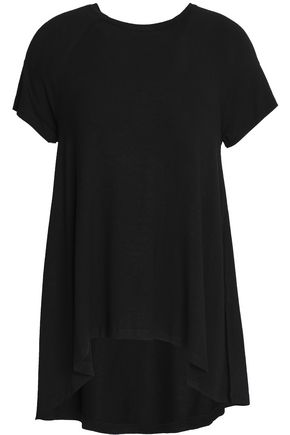 ZIMMERMANN Draped mélange stretch-jersey T-shirt