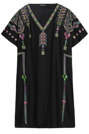 ANTIK BATIK Embroidered voile kaftan