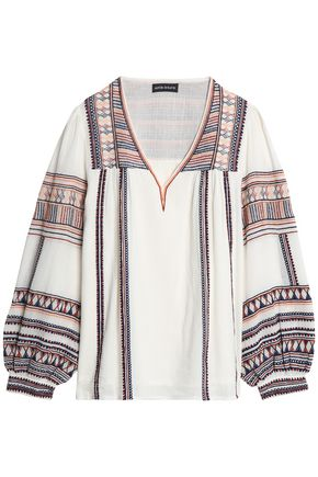 ANTIK BATIK Dakota embroidered cotton tunic