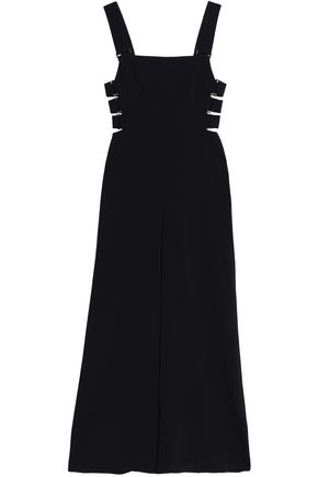 ZIMMERMANN Cutout embellished crepe wide-leg jumpsuit