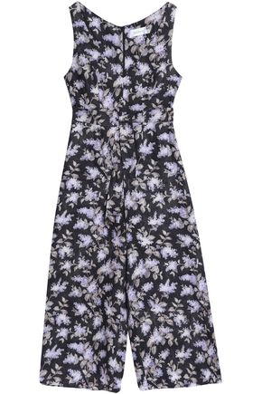 ZIMMERMANN Belted floral-print linen wide-leg jumpsuit