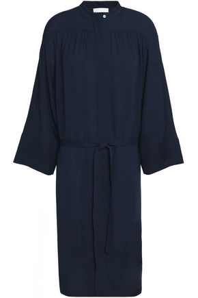 VINCE. Silk-crepe de chine shirt dress
