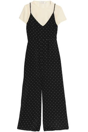 ZIMMERMANN Layered polka-dot silk crepe de chine jumpsuit