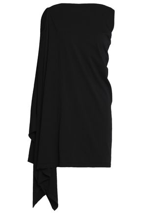 DRKSHDW by RICK OWENS Draped cotton-jersey mini dress