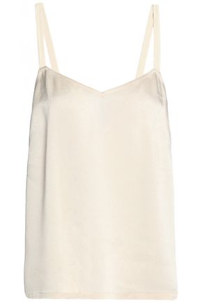 VINCE. Crepe-satin top