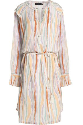 ANTIK BATIK Striped cotton-gauze dress