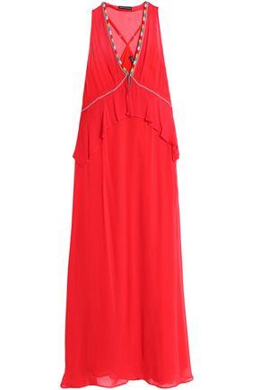 ANTIK BATIK Bead-embellished georgette maxi dress