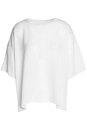 VINCE. Oversized silk T-shirt