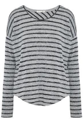RAG & BONE/JEAN Marled striped stretch-jersey top
