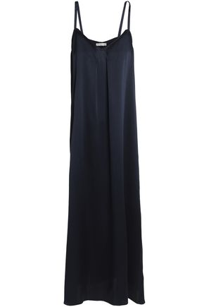 VINCE. Silk-satin maxi dress