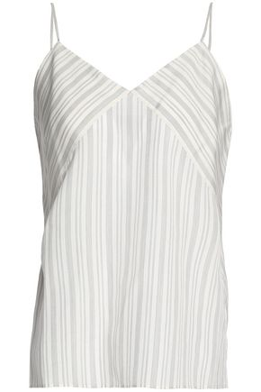 VINCE. Striped silk camisole