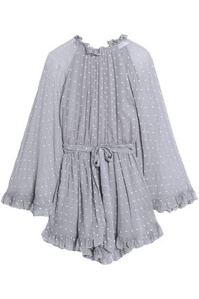 ZIMMERMANN Ruffle-trimmed fil coupé slik-georgette playsuit