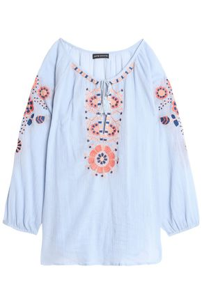 ANTIK BATIK Tasseled embroidered top
