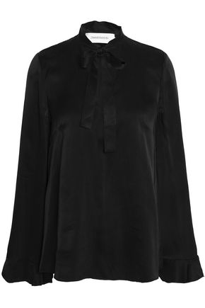 ZIMMERMANN Pussy-bow washed-silk blouse