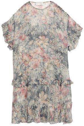 ZIMMERMANN Cavalier ruffle-trimmed floral-print silk-georgette mini dress