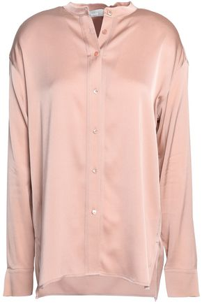 VINCE. Stretch silk-satin shirt