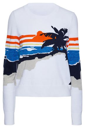 RAG & BONE Intarsia-knit cotton-blend sweater