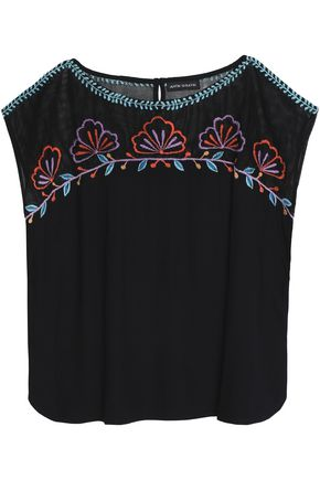 ANTIK BATIK Embroidered gauze top