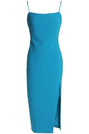CINQ À SEPT Cairen silk-trimmed stretch-cady midi dress