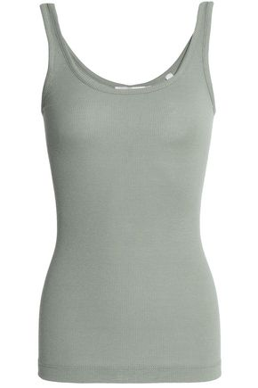 VINCE. Ribbed stretch modal-blend tank