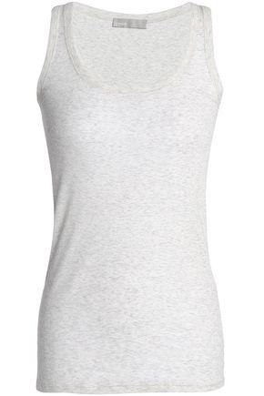 VINCE. Mélange Pima cotton-jersey tank