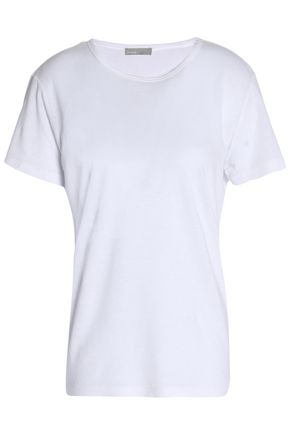 VINCE. Frayed stretch-jersey T-shirt