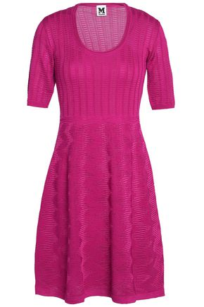 M MISSONI Crochet-knit wool-blend mini dress