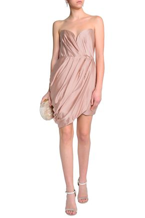 ZIMMERMANN Draped washed silk mini dress