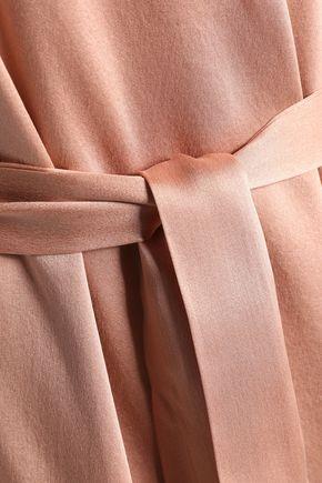 ZIMMERMANN Asymmetric ruffled washed-silk dress