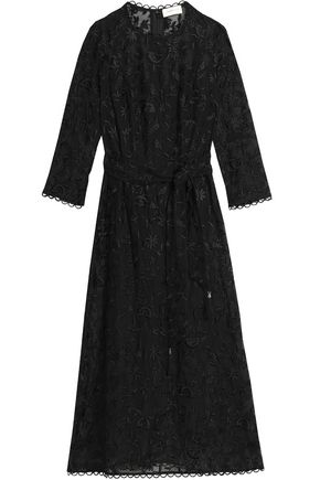 ZIMMERMANN Embroidered cotton and silk-blend midi dress