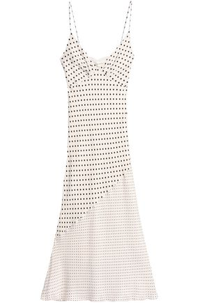 ZIMMERMANN Paneled printed crepe de chine midi dress