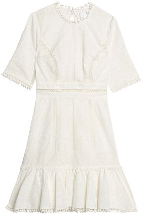 ZIMMERMANN Caravan broderie anglaise cotton mini dress