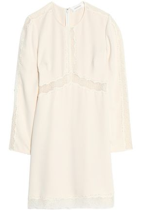ZIMMERMANN Lace-trimmed crepe mini dress