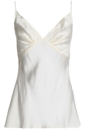 ZIMMERMANN Pleated washed-silk camisole